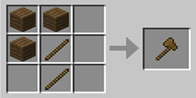como fazer machado axe no minecraft