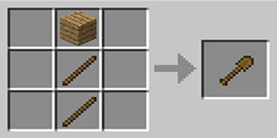 como fazer pa shovel no minecraft