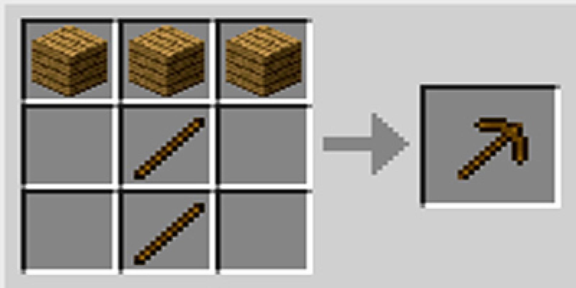 Como fazer picareta pickaxe no Minecraft