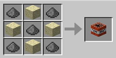 como fazer tnt dinamite no minecraft areia branca