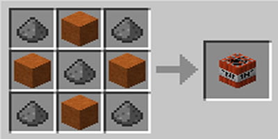 como fazer tnt dinamite no minecraft areia vermelha