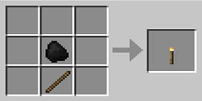 como fazer tocha torch minecraft
