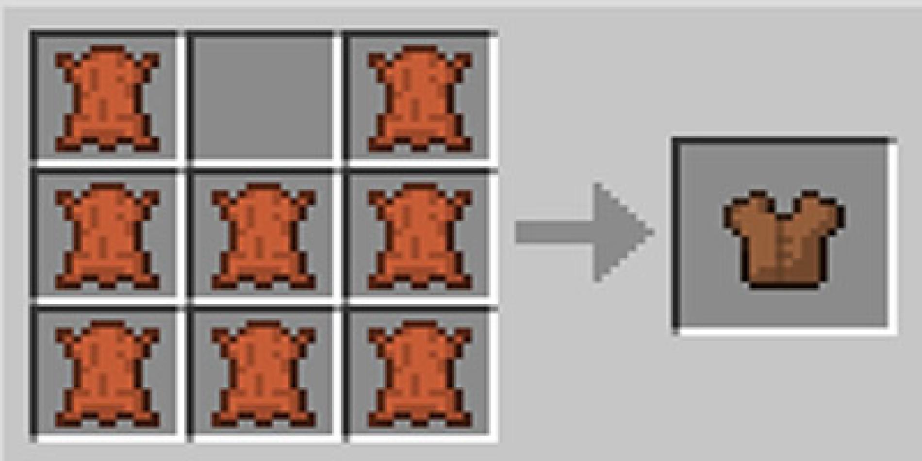 Como fazer uma armadura peitoral no Minecraft