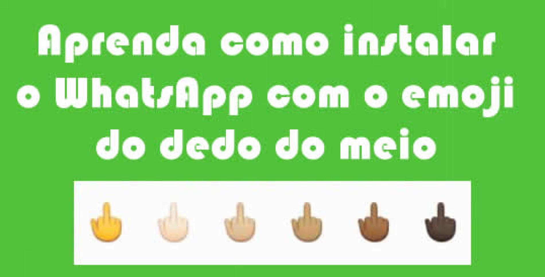 Como instalar novo WhatsApp com emoji dedo do meio
