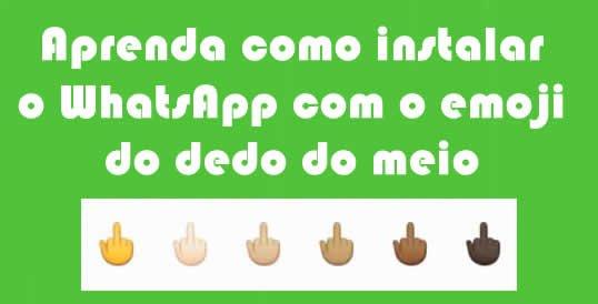 emoji dedo do meio whatsapp
