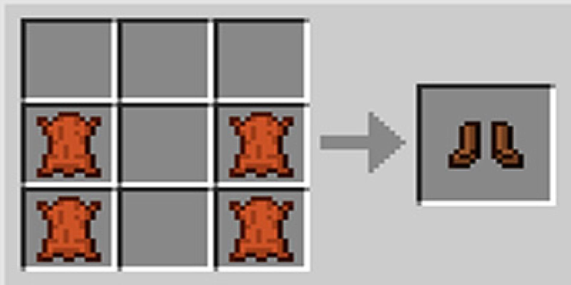 Como fazer botas boots no Minecraft