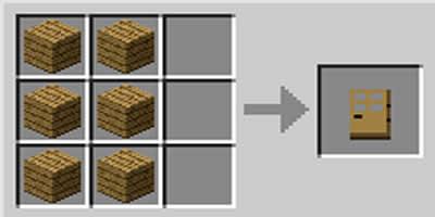 como fazer porta door no jogo minecraft