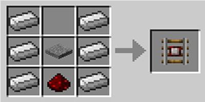 como fazer trilho detector no jogo minecraft