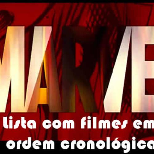 Lista com a ordem para assistir os filmes Marvel