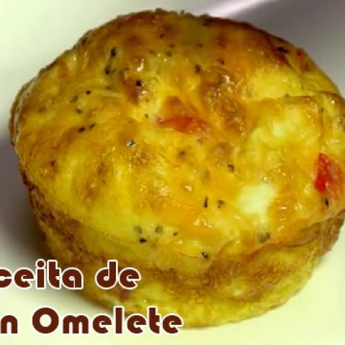 Delicioso muffin de omelete – Aprenda como fazer