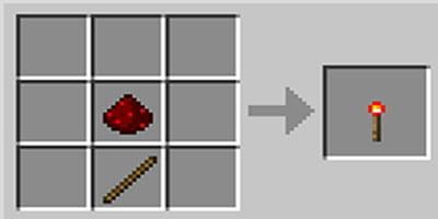 como fazer tocha de redstone jogo minecraft