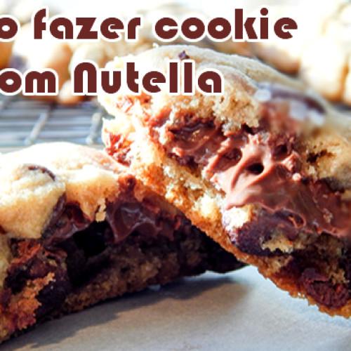 Receita de cookies com nutella