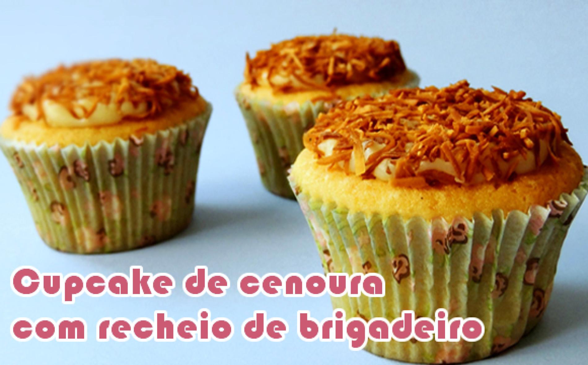 Como fazer cupcake de cenoura com recheio de brigadeiro