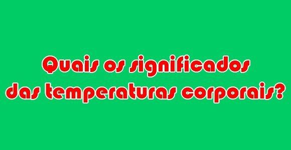 temperaturas corporais