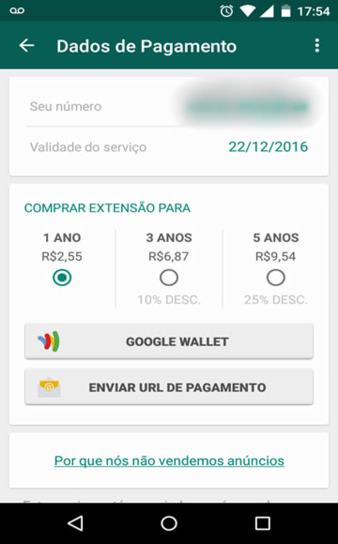 WhatsApp irá cobrar a partir de R$ 2,55 por serviços e APP