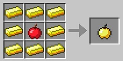 como fazer maca dourada no jogo minecraft