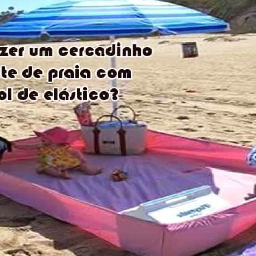 Como fazer um cercadinho e tapete na praia com lençol de elástico