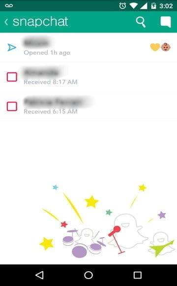 tela chat snapchat