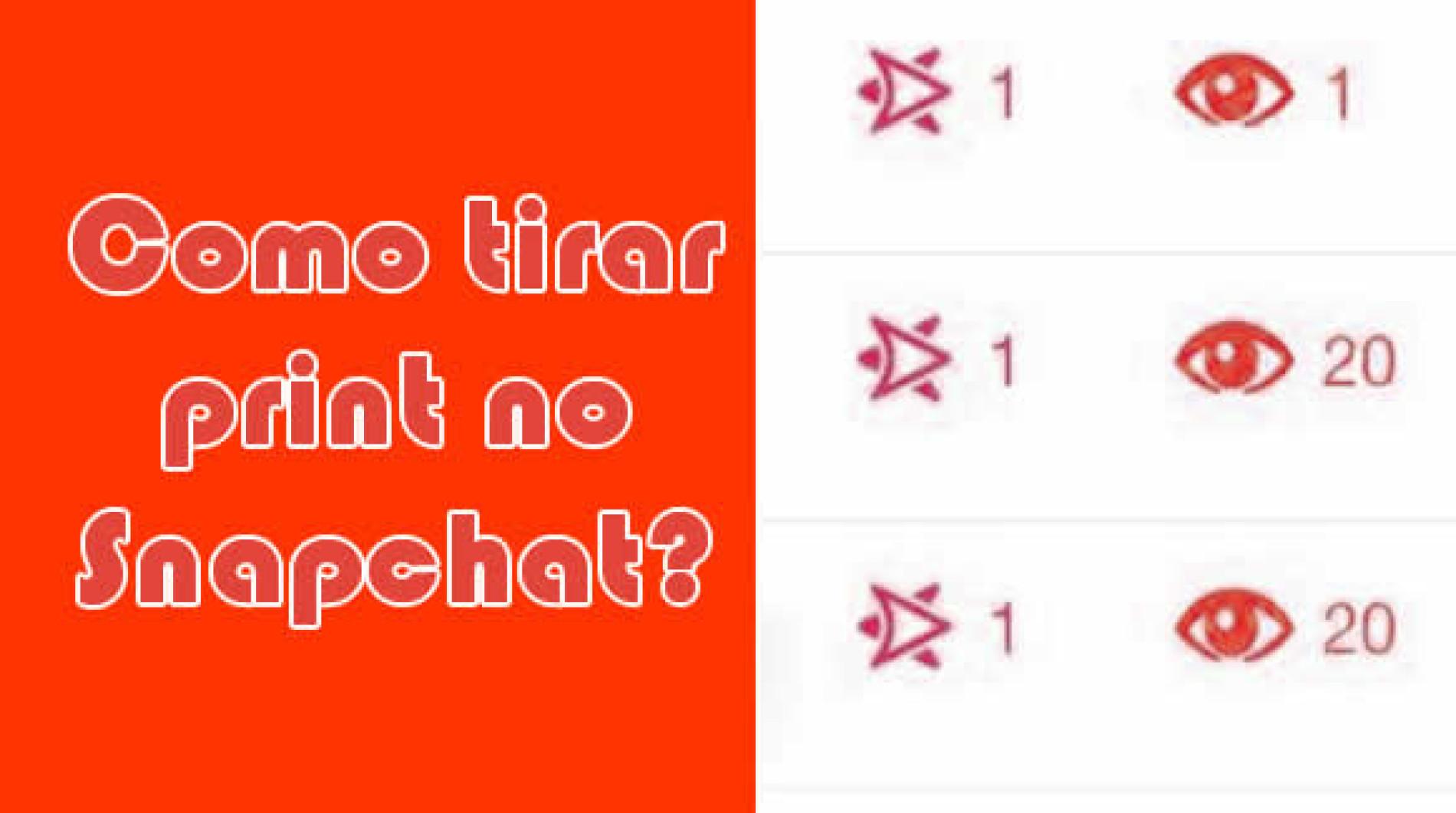 Como tirar print screen da tela do snapchat?