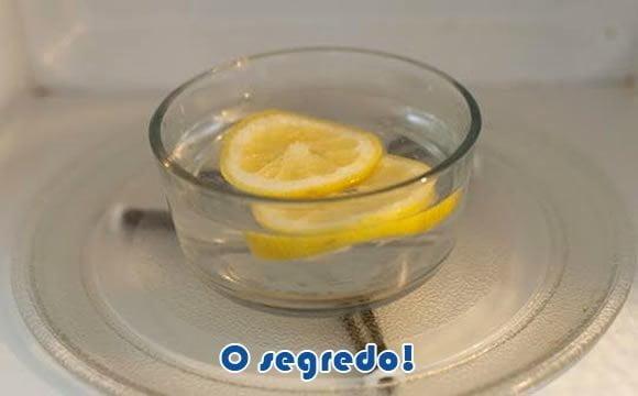 limpando microondas facil com limao