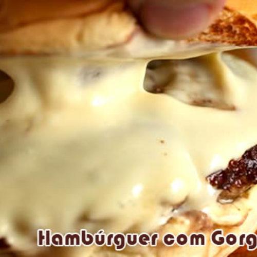 Hambúrguer caseiro de lombo com gorgonzola