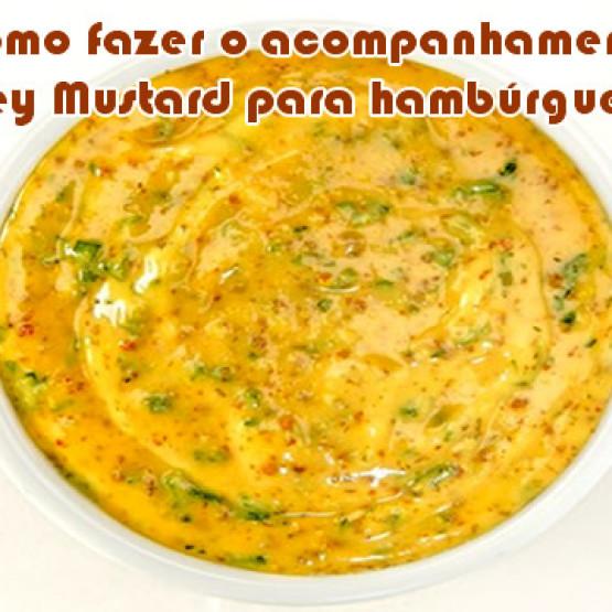 Como fazer Honey Mustard a mostarda com mel para hambúrguer