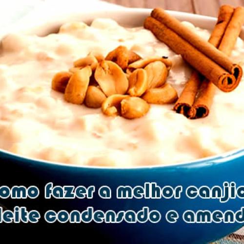 Como fazer canjica com leite condensado e amendoim torrado