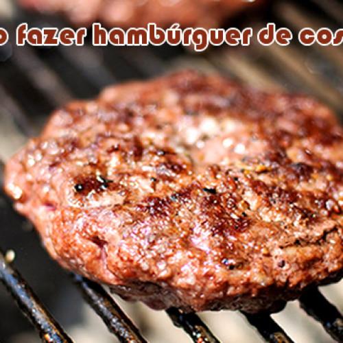 Como fazer hambúrguer de costela?