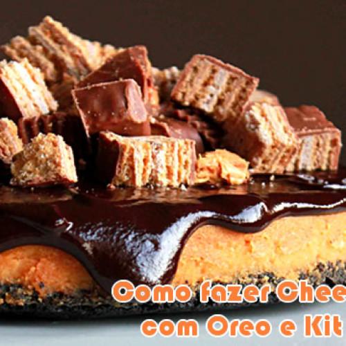 Como fazer cheesecake de Kit Kat e Oreo?