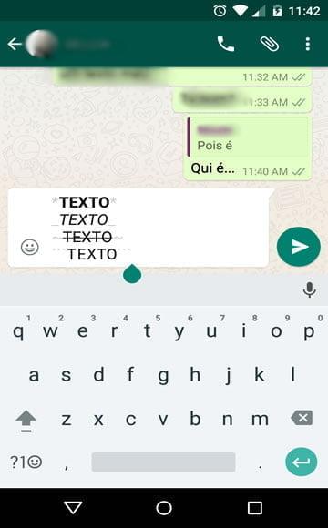 editar texto formatacao whatsapp