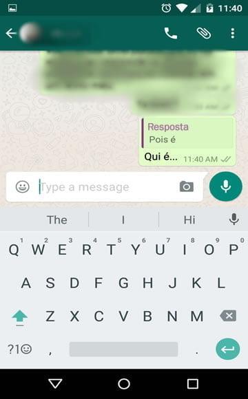 formatacao mencionar resposta whatsapp