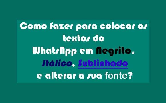 whatsapp negrito italico tracado fonte