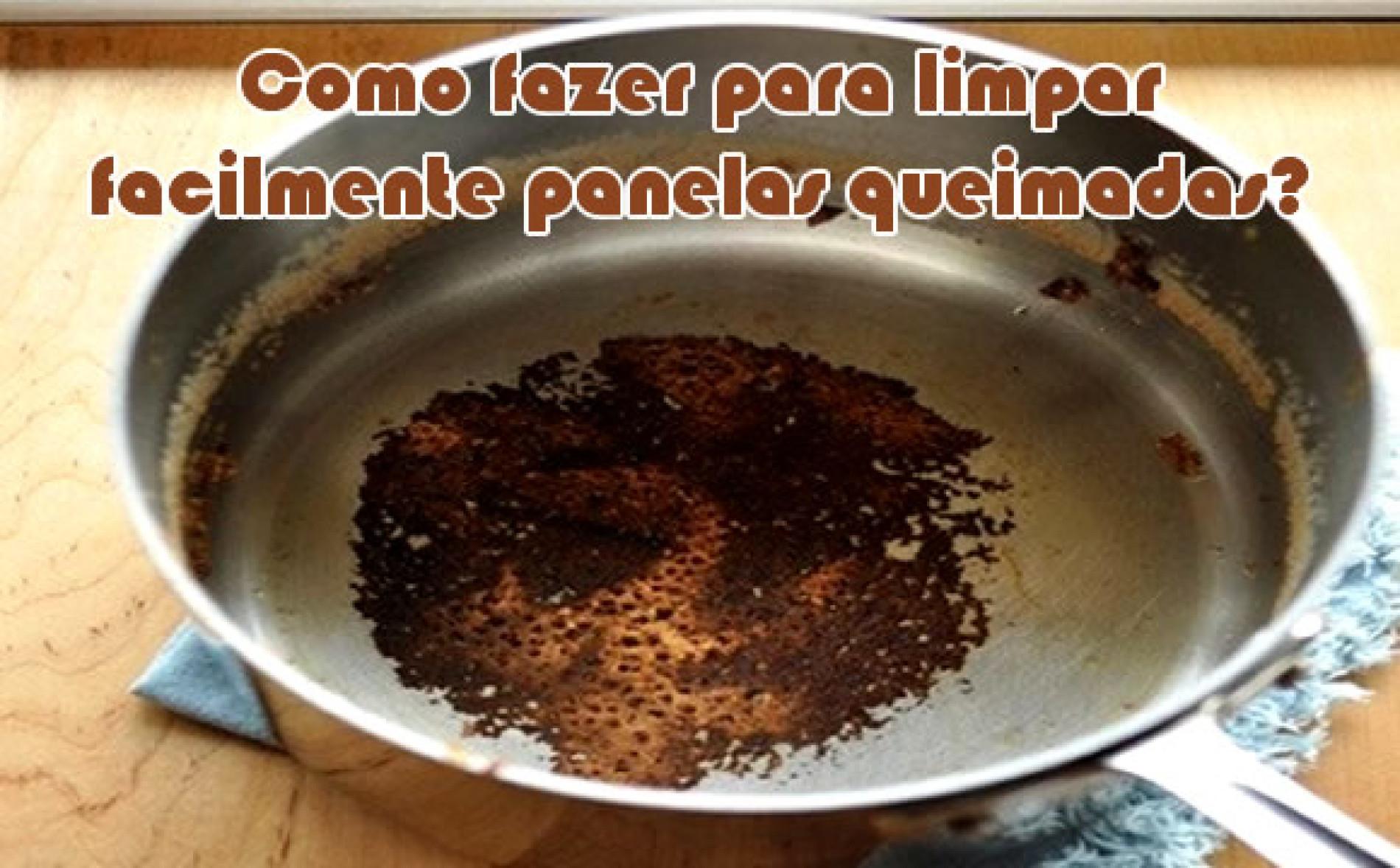Como limpar uma panela queimada facilmente