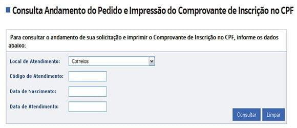 consulta para imprimir cpf
