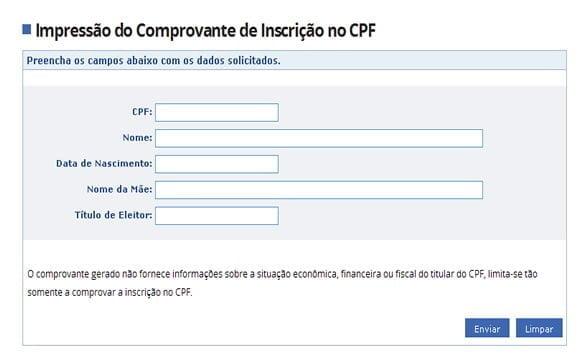 imprimir CPF