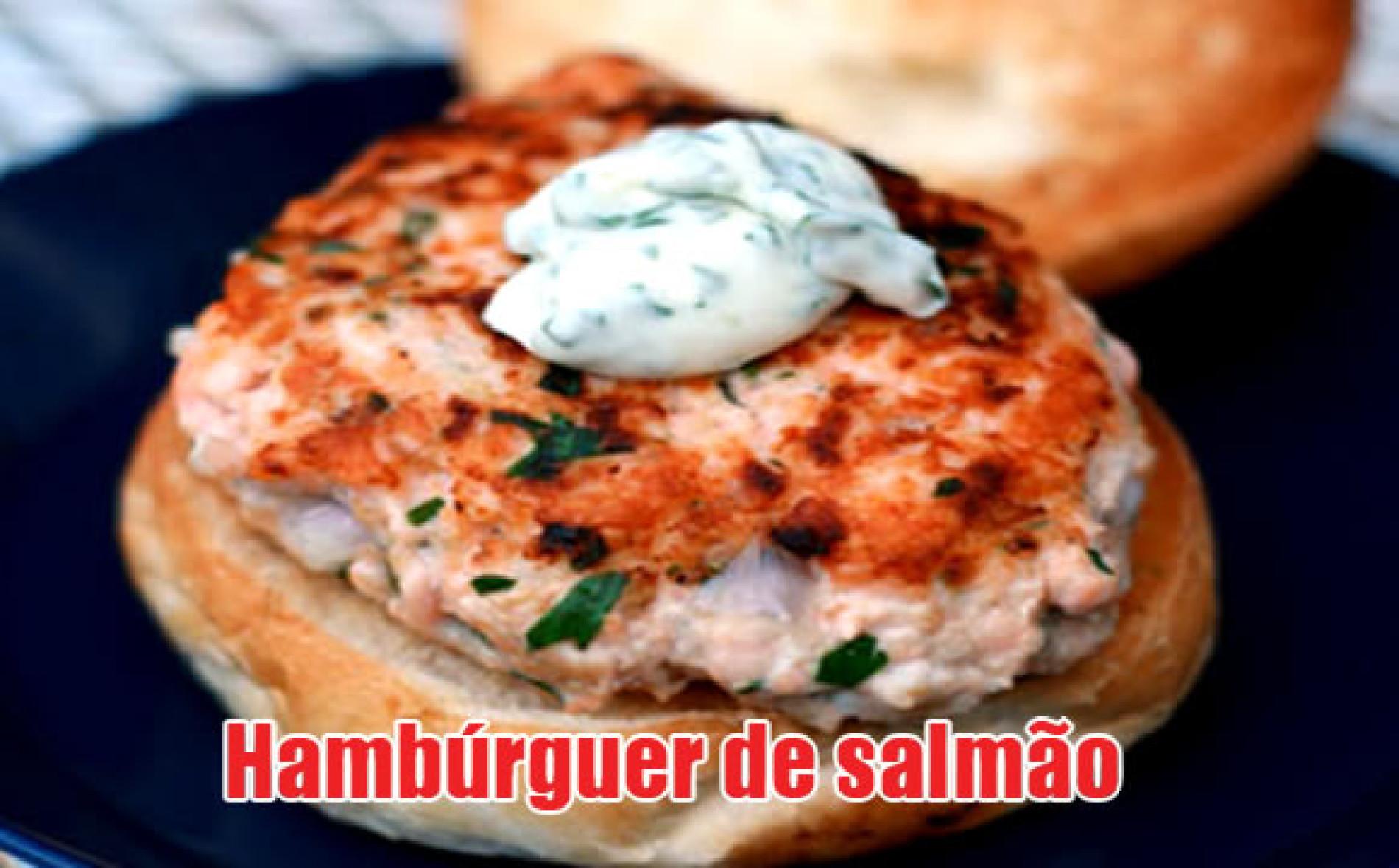 Como fazer hambúrguer caseiro de Salmão