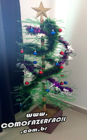 arvore de garrafa pet pronta natal natalino