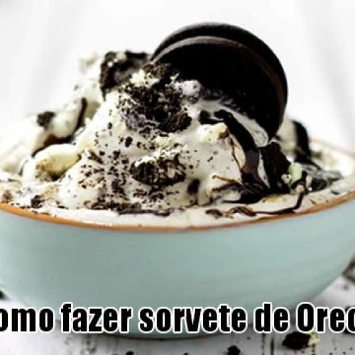 Como fazer sorvete de Oreo para o verão