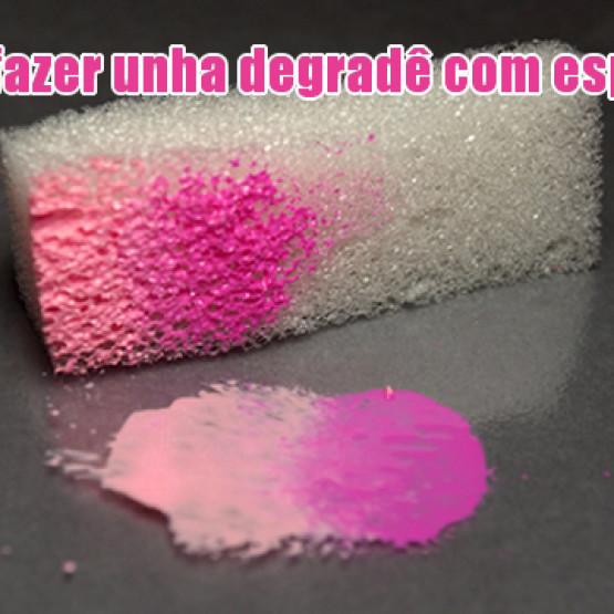 Como fazer unhas degradê com esponja