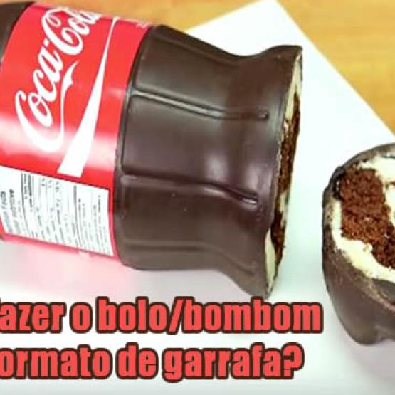 Como fazer bolo/bombom na garrafa de Coca
