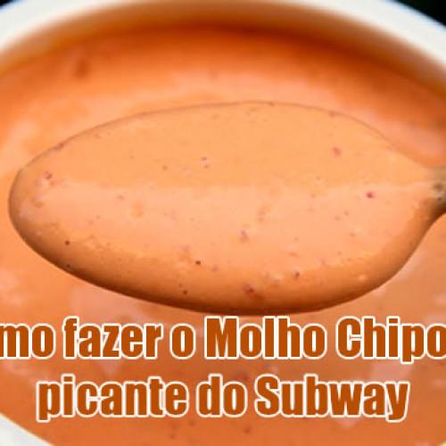 Como fazer molho Chipotle picante do Subway