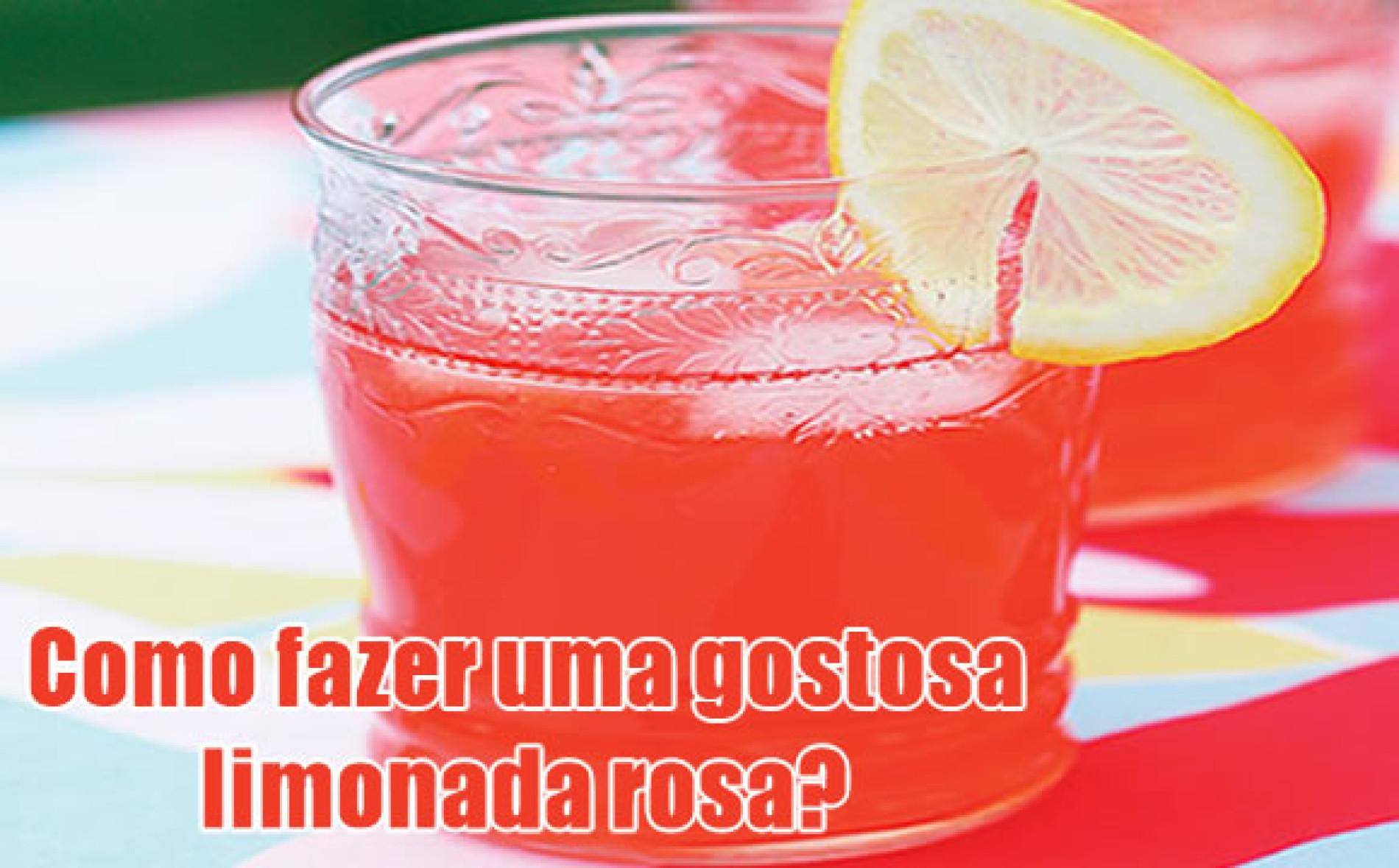 Como fazer a limonada rosa (pink lemonade)