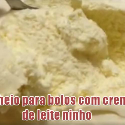 Recheio para bolos com creme de leite ninho