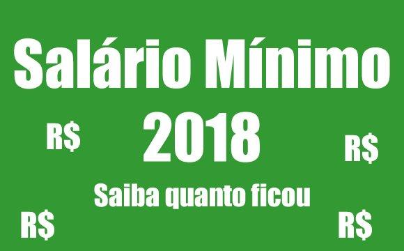 2018 salario minimo valor consulta