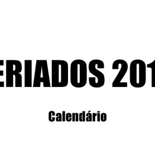 Feriados 2018 – Calendário completo