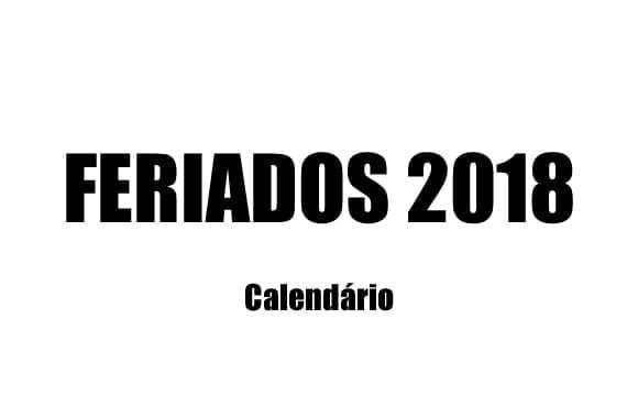 calendario de feriados 2018