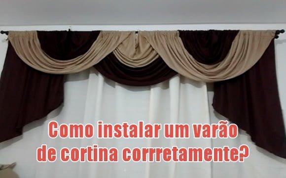 colocando varao de cortina