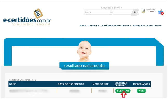 segunda via e certidoes internet