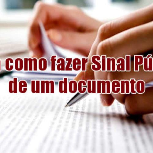 Como fazer sinal público de um documento