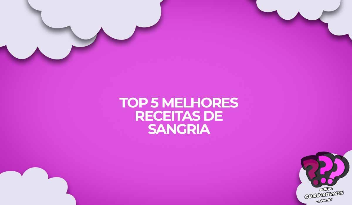 sangria top receitas brasil